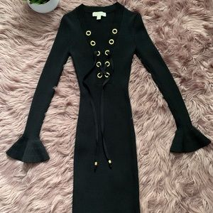 Michael Kors Dress Knitted Black